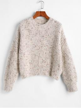 Autumn and Winter Others Nonelastic Full Drop Crew Regular Loose Fashion Daily Pullovers Drop Shoulder Pullover Fuzzy Sweater