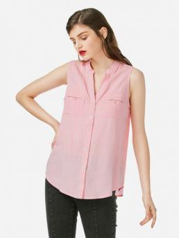 ZAN.STYLE V-neck Sleeveless Blouse