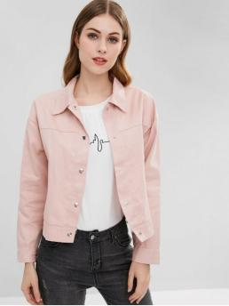 No Autumn and Spring Embroidery Floral Shirt Full Regular Slim Fashion Jackets Daily Snap Button Floral Embroidered Jacket