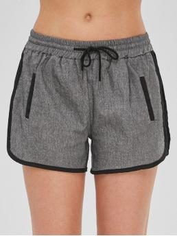 Others Pleated Elastic Mid Straight Fashion Drawstring Pull On Dolphin Shorts