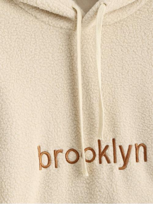 Full Sleeve Cotton,polyester,polyurethane Light Coffee Regular Front Pocket Oversized Brooklyn Embroidered Teddy Fashion