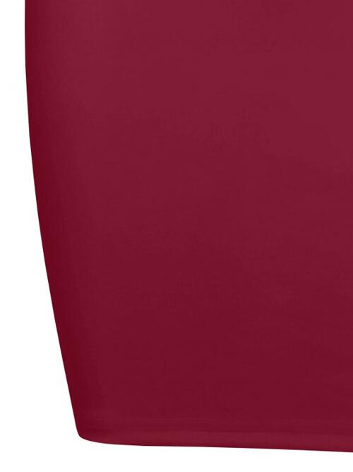 Deep Red Solid Sleeveless Polyester Chain Straps Slinky Dress Discount