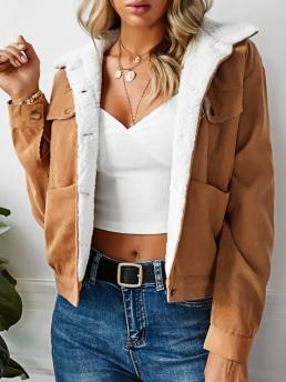 Full Sleeve Wide-waisted Polyamide,polyester Solid Pocket Jacket on Sale