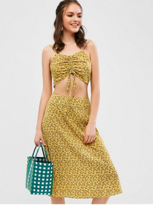 No Summer Leaf Backless and Slit Sleeveless Halter Ankle-Length A-Line Vacation Casual Leaves Print Slits Halter Maxi Dress