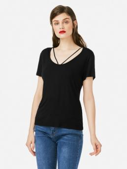 ZAN.STYLE Strappy Front T-shirt