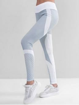 Fall and Spring and Summer Full Others Elastic High Daily and Running and Sports and Training Active Two Tone Honeycomb Workout Gym Leggings