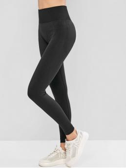 Fall 7/8 Solid High Sports Active High Waist Solid Color Sports Leggings