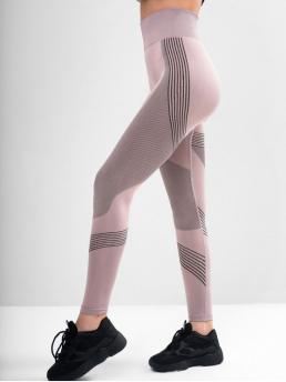 Fall and Spring Full Striped High Running and Sports Active Striped Skinny High Waisted Leggings