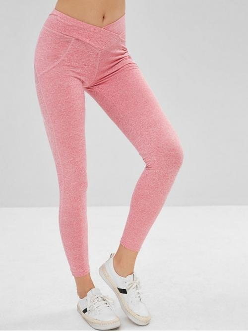 Fall Ruched Solid Mid Daily Casual Mid Waist Scrunch Leggings
