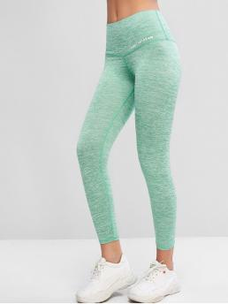Fall 7/8 Others Elastic High Sports Active Active Heathered 7/8 Leggings