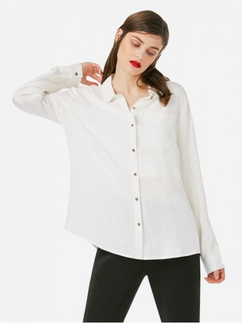 ZAN.STYLE Stand Up Collar Blouse