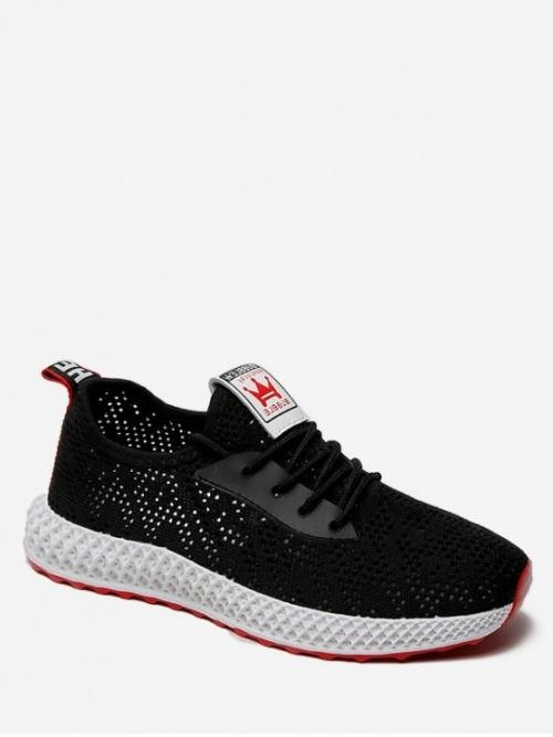 Summer Mesh Rubber Solid Lace-Up For Casual Breathable Mesh Sports Shoes