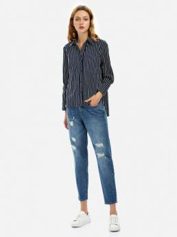 ZAN.STYLE Loose Fit Collar Blouse