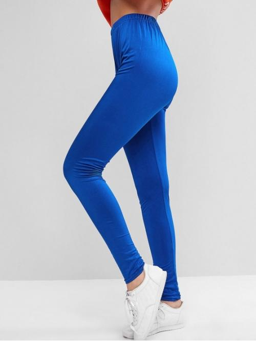 Fall and Spring Full Solid Elastic High Daily Fashion Sparkle Solid High Waisted Leggings