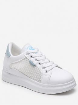 Breathable Summer Synthetic Rubber Others Lace-Up For Lace-up Breathable Mesh Trim Sport Shoes