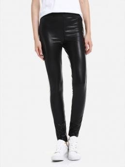 ZAN.STYLE Leather Leggings with Elasticized Waist