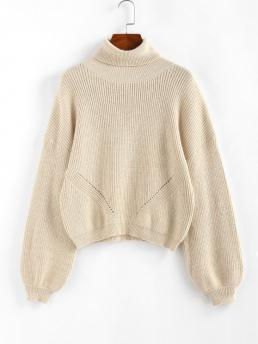 Ladies Full Sleeve Pullovers Polyamide,polyester,viscose Solid Turtleneck Sweater