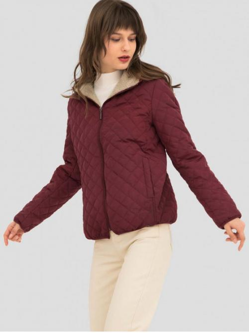 Autumn and Winter Solid Zipper Hooded Full Regular Wide-waisted Daily Casual Quilted Zip Up Hooded Coat