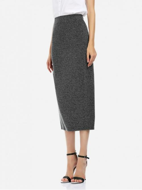 ZAN.STYLE Ankle Length Pencil Skirt