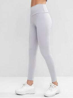 Fall and Spring Full Solid High Daily and Sports Active High Waisted Skinny Scrunch Butt Leggings