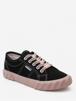 Spring/Fall Synthetic Rubber Letter Lace-Up For Leisure Style Letter Design Sport Shoes