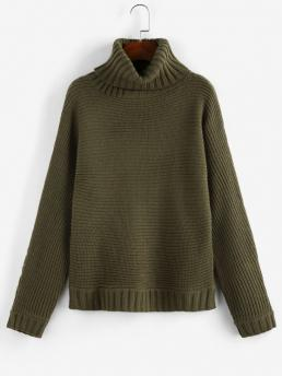 Full Sleeve Pullovers Polyacrylic Solid Turtleneck Sweater Discount