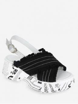 Summer Cloth Rubber Others Buckle Flat Ankle Casual and Daily Casual and Fashion For Buckle Strap Jeans Cloth Sandals