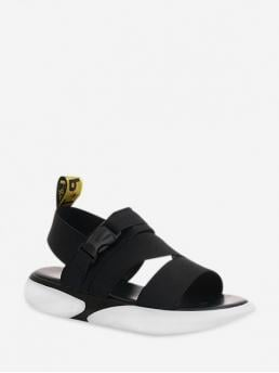 Summer Stretch Rubber Others Buckle Flat Ankle Casual and Daily Sport For Elastic Band Buckled Sport Sandals