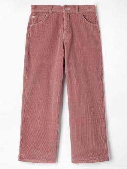 Fall and Spring and Winter No Zipper Straight Solid Regular Mid Fashion Corduroy Pocket Straight Pants