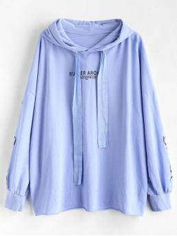 Autumn and Spring Letter Full Regular Hoodie Oversized Letter Graphic Hoodie