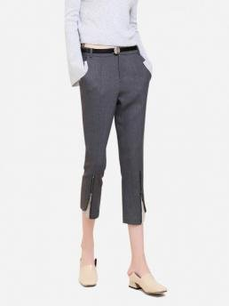 ZAN.STYLE Side Pocket Cropped Pants
