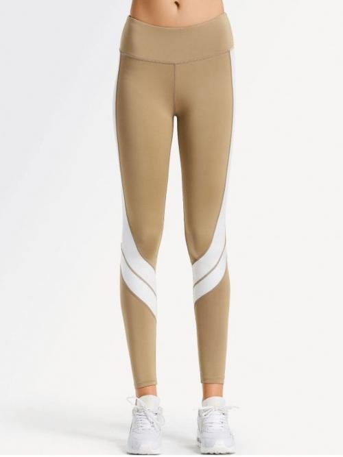 Straight Others Flat Elastic Mid Skinny Normal Active Two Tone Active Yoga Leggings