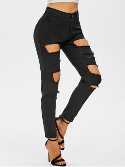 Black Skinny Normal Spring Ripped Jeans Trending now