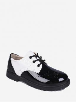 Sale White Patent Leather Others Vintage Wingtip Round Toe Shoes