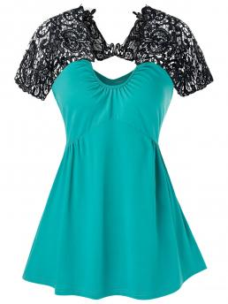 Polyester,polyurethane Others Turquoise Casual Insert Cut out Flare Tank Top Fashion