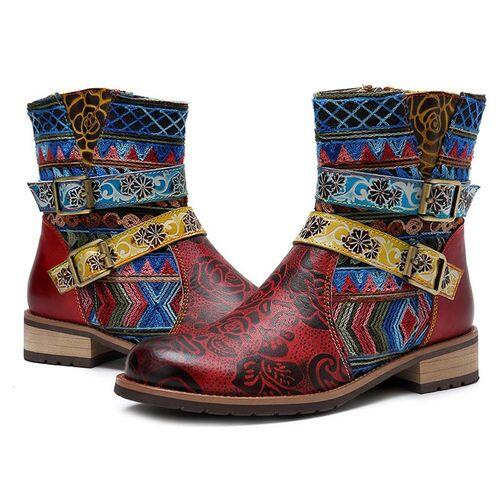 Fashion Red Winter Women's Ankle