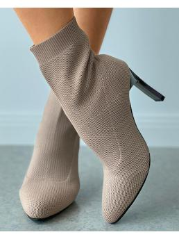 Sale Rib-knit Apricot other 9cm Heeled Sock Boots