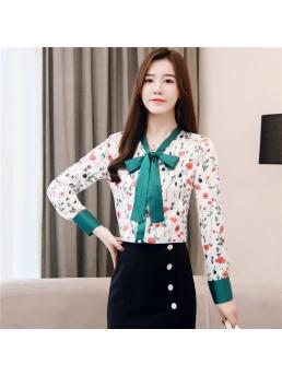 Autumn Women Shirts Elegant Women Satin Blouse Shirts Fashion Women Silk Blouses Bow Shirt Plus Size Blusas Mujer De Moda