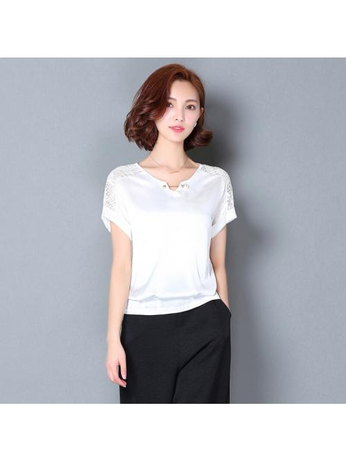 Women Shirts Womens Tops and Blouses Chiffon Shirts for Woman Summer Lace Shirts Plus Size Tops Sexy Office Lady Printing Blouse
