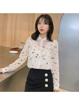 Fashion Autumn Women Blouses Woman Chiffon Shirt Blouses Womens Tops and Blouses Women Print Shirt Women Shirts